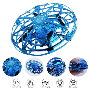 (Global Shop) Anti-collision Hand UFO Ball Flying Suspension drone