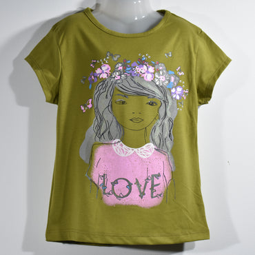 (Wholesale Only) Girl Printed Girls Short Sleeve T-shirts