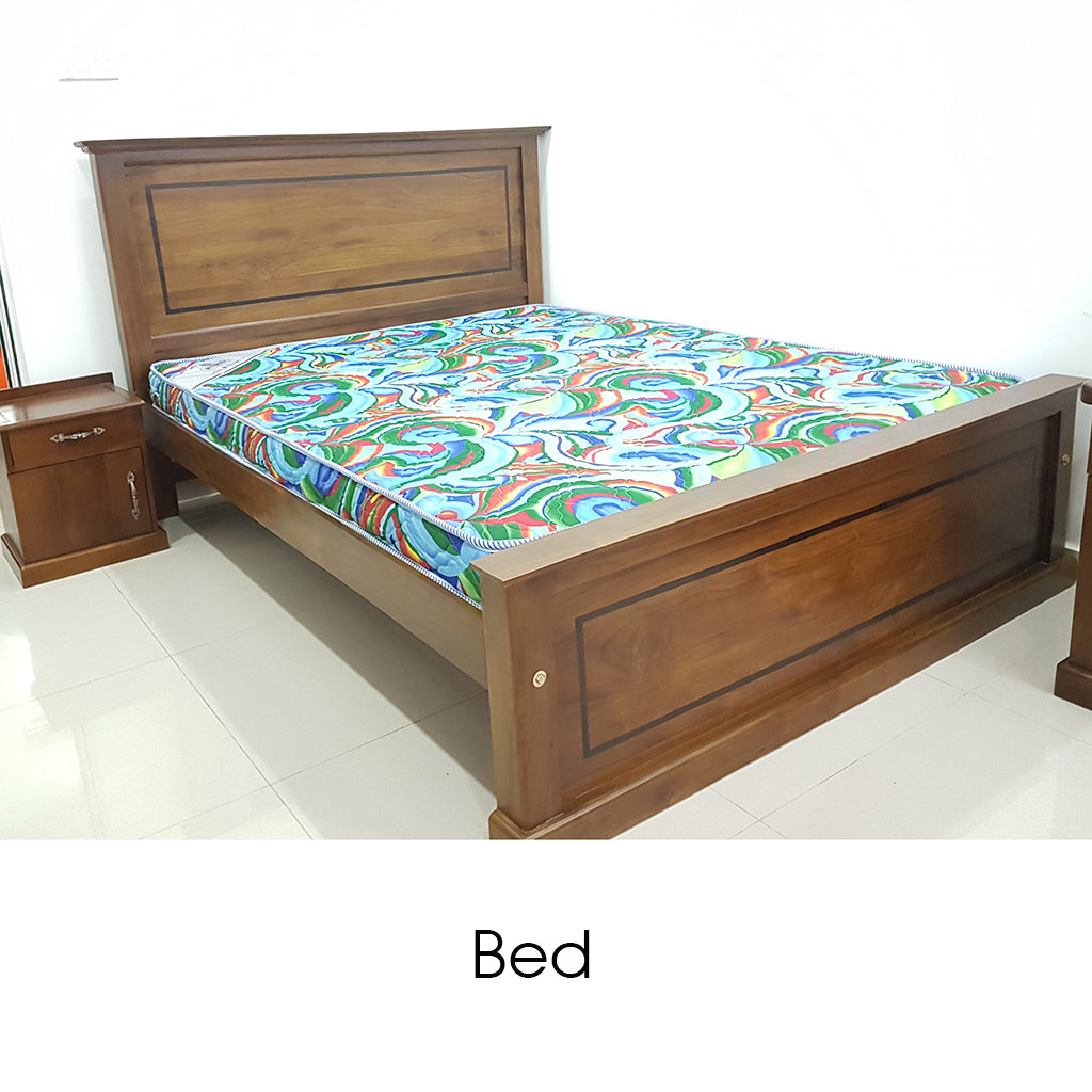 Teak Wood Bed - Jaydy Furniture - mylife-sa.myshopify.com