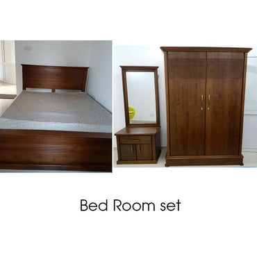 Teak Wood Bed Room Set - Jaydy Furniture - mylife-sa.myshopify.com
