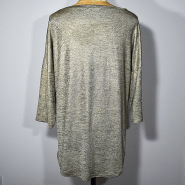 Half Sleeve Womens Viscose Shiny Gold Top - Deshanee Dress Point - mylife-sa.myshopify.com