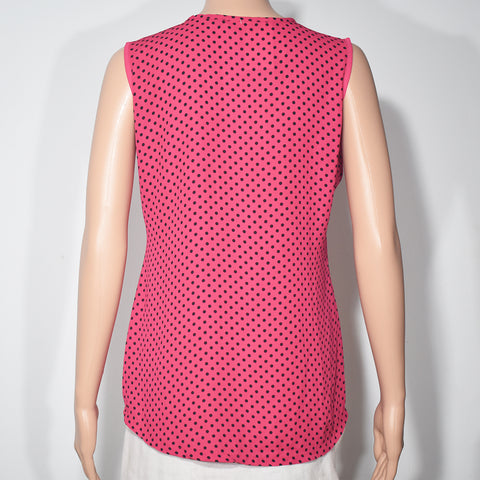Sleeveless Dot Printed Womens Blouse - Deshanee Dress Point - mylife-sa.myshopify.com