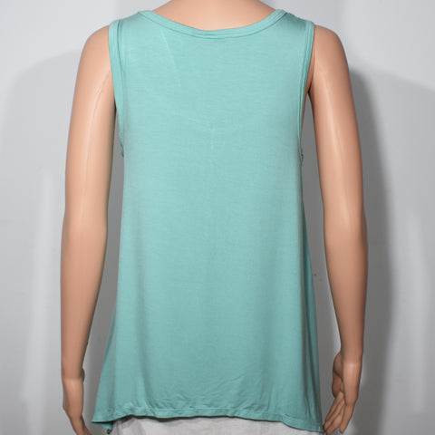 Womens Sleeveless Hankerchief Hem Top