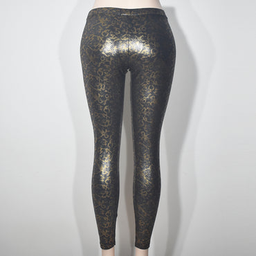 (Wholesale Only) Gold Cama Printed Shine Women Leggings - Deshanee Dress Point - mylife-sa.myshopify.com