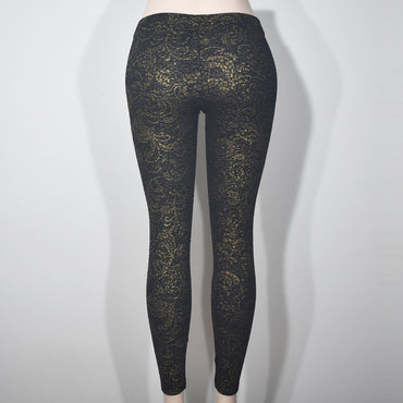 Gold Printed Black Women Leggings - Deshanee Dress Point - mylife-sa.myshopify.com