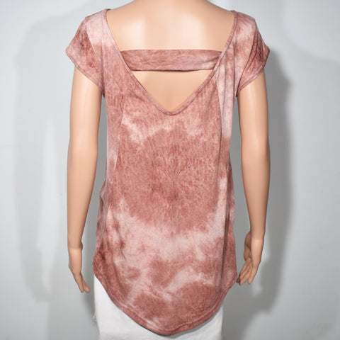 Womens Short Sleeve Printed Back Sash Burnout Top - Deshanee Dress Point - mylife-sa.myshopify.com