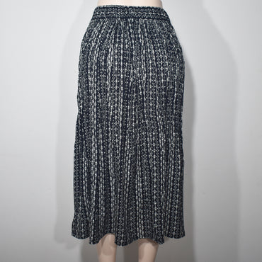 Elastic Waist Black Printed Women Skirt - Deshanee Dress Point - mylife-sa.myshopify.com