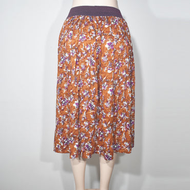 Elastic Waist Flower Printed Womens Skirt - Deshanee Dress Point - mylife-sa.myshopify.com