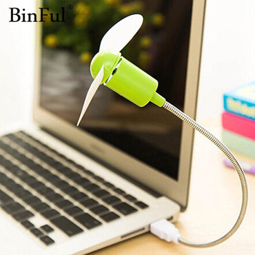 BinFul Mini USB Fan gadgets Flexible Cool For laptop PC Notebook high quality For Laptop Desktop PC Computer - My Life