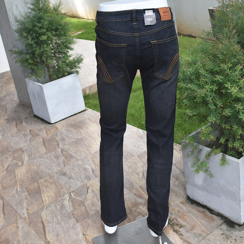 Black & Blue Color Mens Denim Trouser