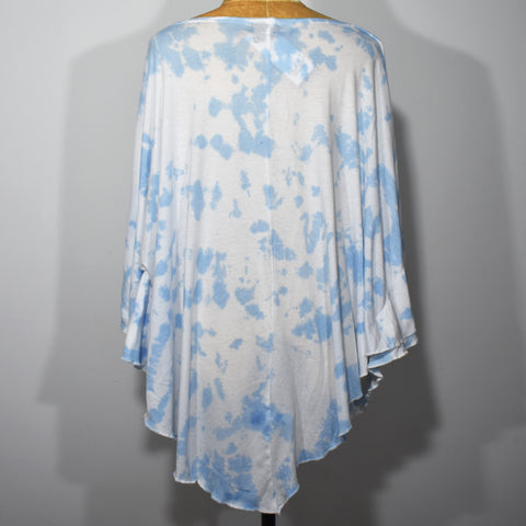 Printed Boat Neck Womens Tie Dye Poncho Top - Deshanee Dress Point - mylife-sa.myshopify.com