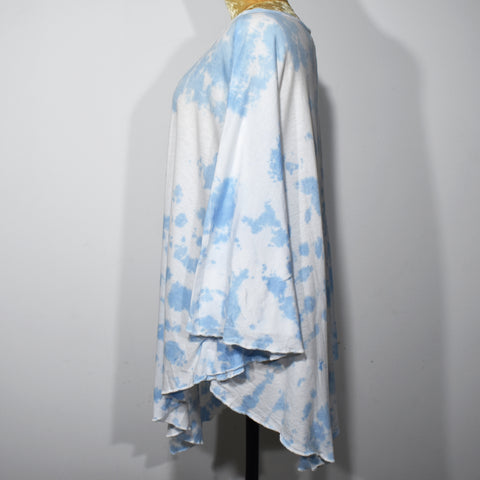 (Wholesale Only) Boat Neck Womens Tie Dye Poncho