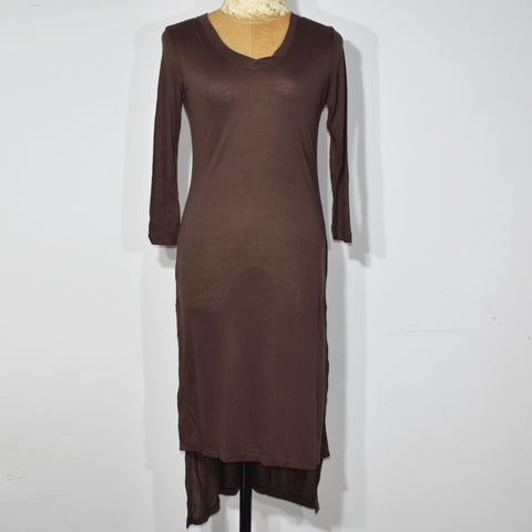 Three Quarter Sleeve Solid Color Longline Womens Top - Deshanee Dress Point - mylife-sa.myshopify.com