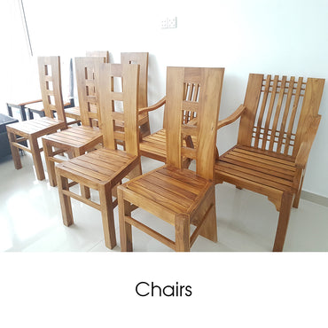 Light Brown Color Teak Wood Chair