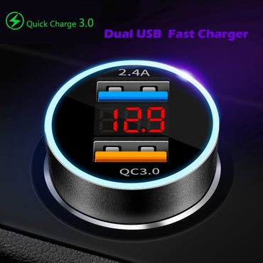 (Global Shop) USB Fast Car Mobile Phone Charging Adapter