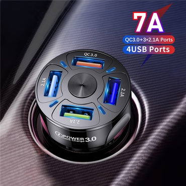 (Global Shop) Fast Charging Dual USB Car Mobile Phone Charger