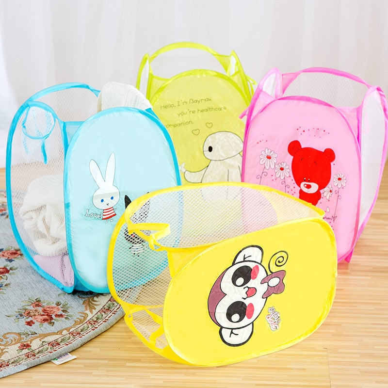 (Global Shop) Cartoon Sorting Clothes Storage Folding Basket