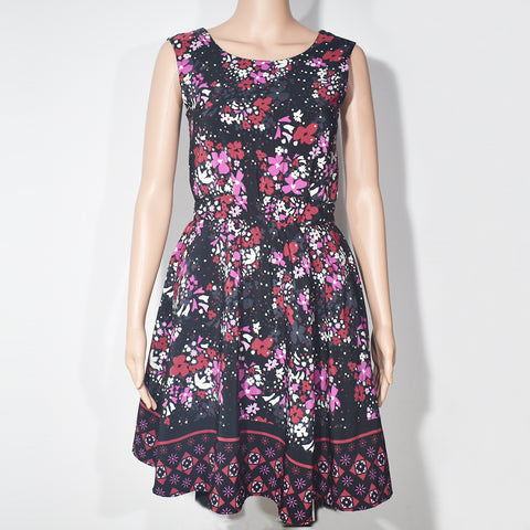 Sleeveless Printed Casual Girls Dress