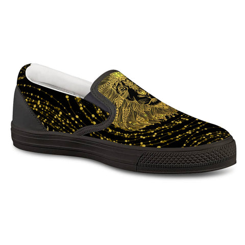 (Global Shop) Golden Lion - Black Slip On Shoes - E creations - mylife-sa.myshopify.com