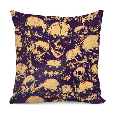 Glasses Skull Pillow Cover