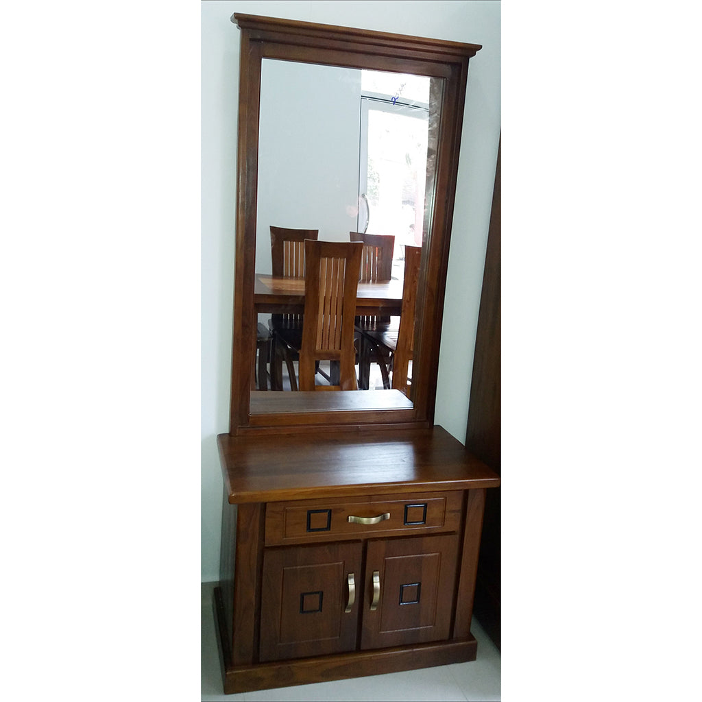 Brown Color Teak Wood Dressing Table - Jaydy Furniture - mylife-sa.myshopify.com