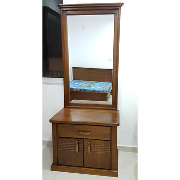 Brown Color Teak Wood Dressing Table 2 - Jaydy Furniture - mylife-sa.myshopify.com