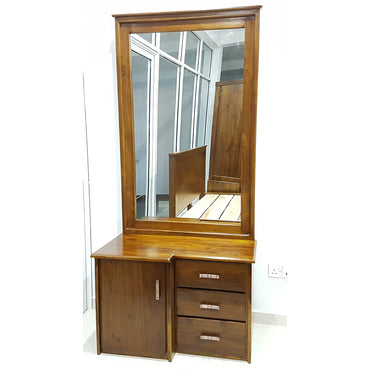 Light Brown Color Teak Wood Dressing Table 3 - Jaydy Furniture - mylife-sa.myshopify.com