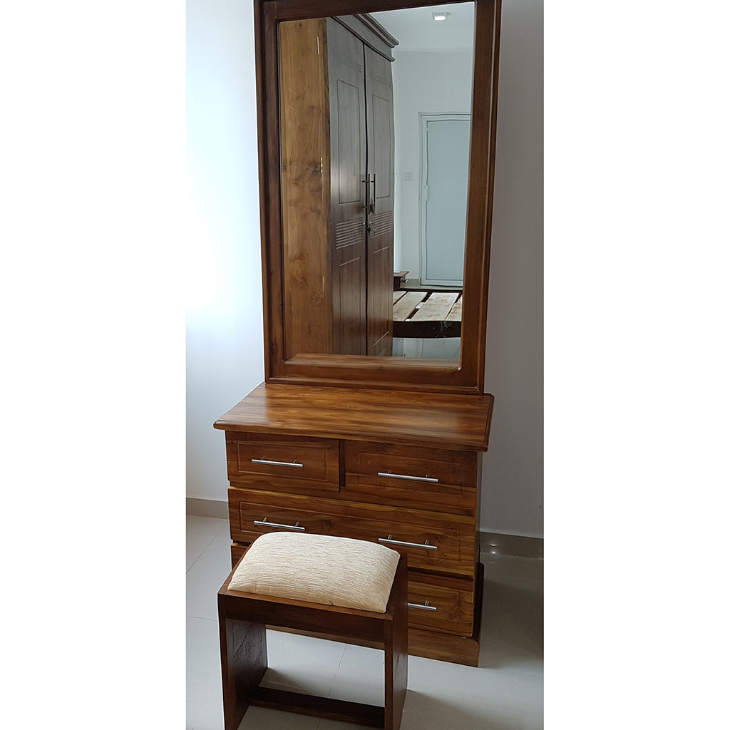 Brown Color Teak Wood Dressing Table 4 - Jaydy Furniture - mylife-sa.myshopify.com