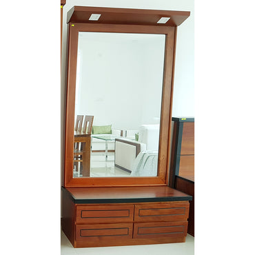 Light Brown Color Teak Wood Dressing Table 5 - Jaydy Furniture - mylife-sa.myshopify.com