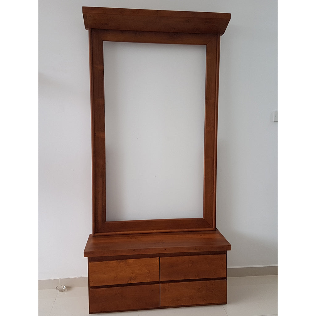 Brown Color Teak Wood Dressing Table 6 - Jaydy Furniture - mylife-sa.myshopify.com