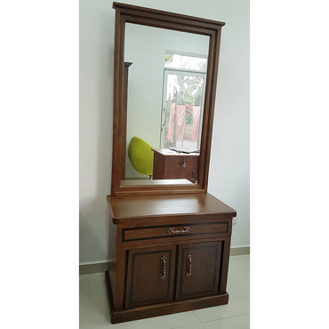Brown Color Teak Wood Dressing Table 7 - Jaydy Furniture - mylife-sa.myshopify.com