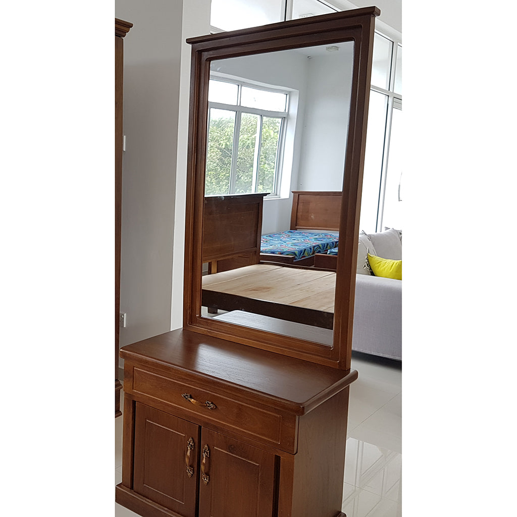 Dark Brown Color Teak Wood Dressing Table 8
