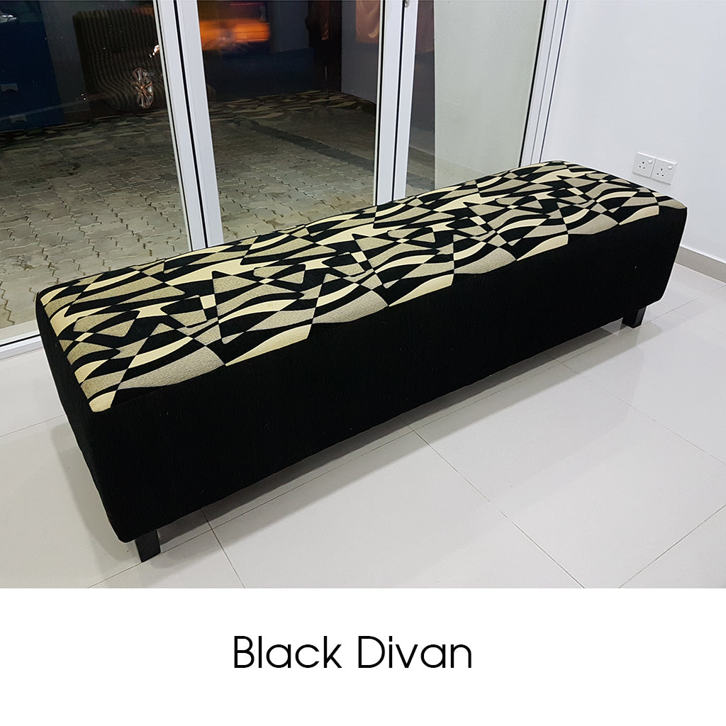 Treated MDF Black Divan