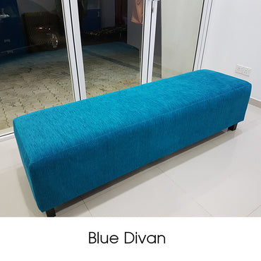 Ginisapu Wood Blue Divan - Jaydy Furniture - mylife-sa.myshopify.com