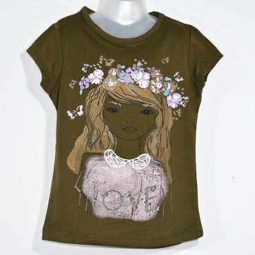 (Wholesale Only) Girl Printed Girls Short Sleeve T-shirts - Deshanee Dress Point - mylife-sa.myshopify.com