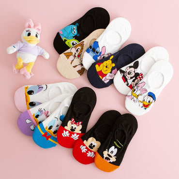 (Global Shop) Non-Slip Summer Cotton Disney Cartoon Socks