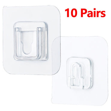 (Global Shop) Double-Sided Strong Transparent Adhesive Wall Hooks