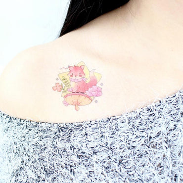 (Global Shop) Cute Cartoon Animal Waterproof Temporary Tattoo Sticker