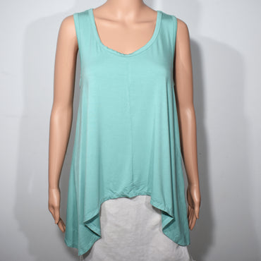 Womens Sleeveless Hankerchief Hem Top - Deshanee Dress Point - mylife-sa.myshopify.com