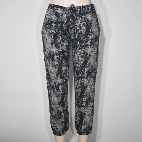Open Knit Printed Jogger Pant