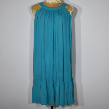 Light Blue Solid Color Sleeveless Dress - Deshanee Dress Point - mylife-sa.myshopify.com