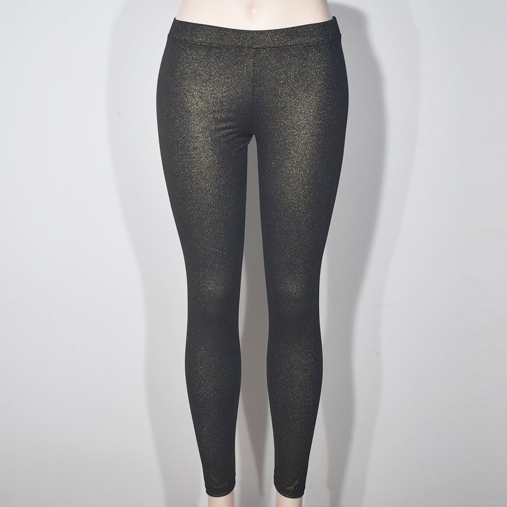 Gold Shine Solid Color Women Leggings - Deshanee Dress Point - mylife-sa.myshopify.com
