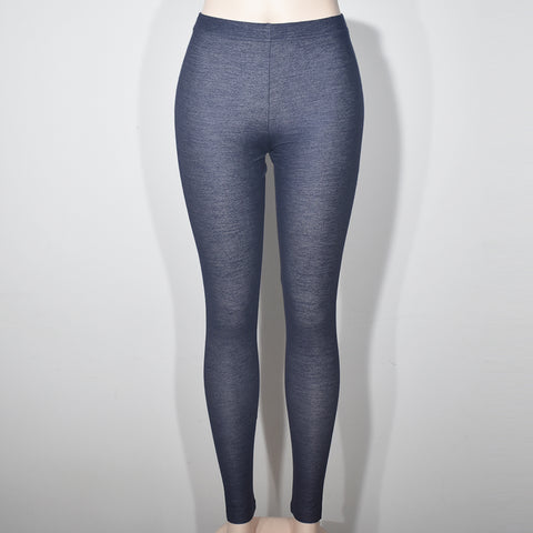 (Wholesale Only) Dark Gray Comfortable Women Denim Leggings