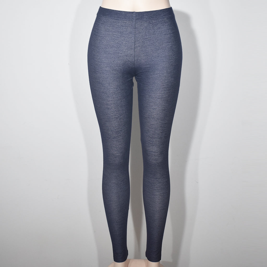 Dark Gray Comfortable Women Denim Leggings