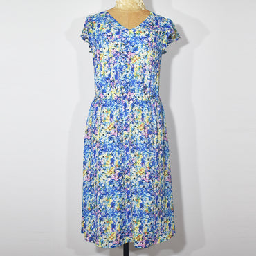 V-neck Full Lining Crepe Georgette Dress - Deshanee Dress Point - mylife-sa.myshopify.com
