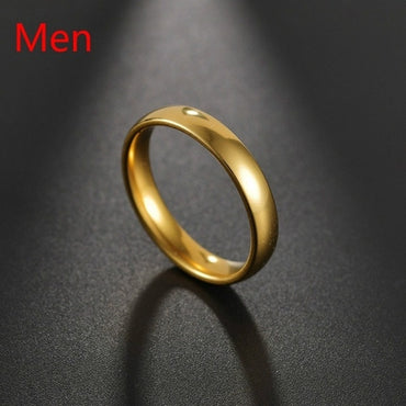 (Global Shop) Fashion Luxury Golden Engagement Couple Ring