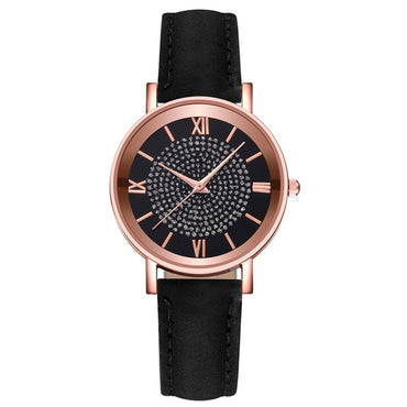 (Global Shop) Luxury Quartz Stainless Steel Dial Casual Watch