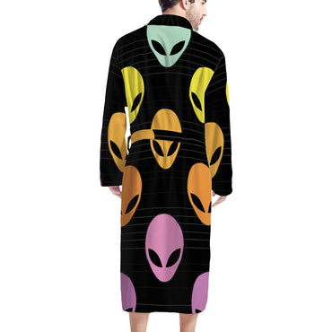 (Global Shop) Alien Invasion - Men's Bathrobe