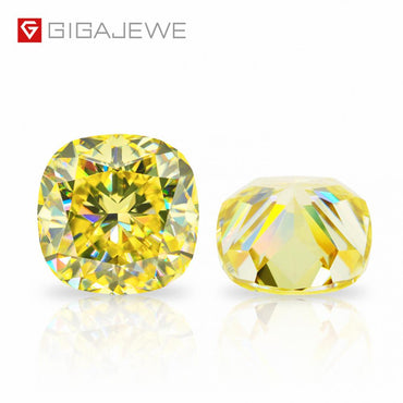 (Global Shop) Customized Crushed Cut Vivid Yellow Diamond