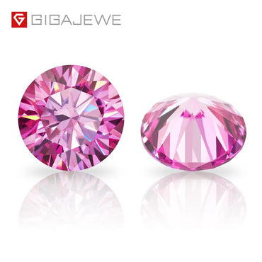 (Global Shop) Rare Red Pink Color Round Moissanite Gem